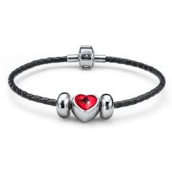 Náramek Oliver Weber Close Heart (black/red)