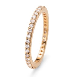 Stříbrný prsten Oliver Weber Jolie - 63225 (gold crystal)