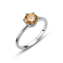 Stříbrný prsten Oliver Weber Brilliance large - 63219 (champ)