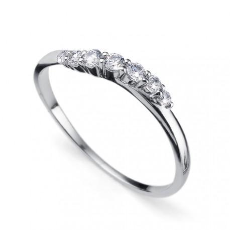Stříbrný prsten Oliver Weber Petite - 63227 (crystal)