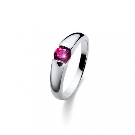 Stříbrný prsten Oliver Weber Tender - 63223 (pink)