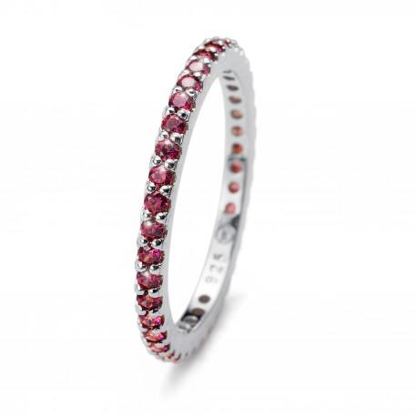 Stříbrný prsten Oliver Weber Jolie - 63225 (purple)