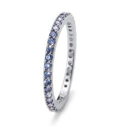 Stříbrný prsten Oliver Weber Jolie - 63225 (blue)