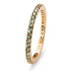 Stříbrný prsten Oliver Weber Jolie - 63225 (gold green)
