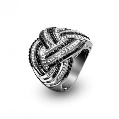 Stříbrný prsten Combine - 7725 (black)