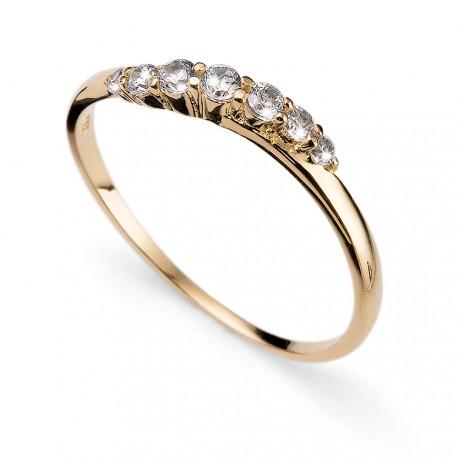 Stříbrný prsten Oliver Weber Petite - 63227 (crystal / gold plated)