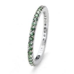 Stříbrný prsten Oliver Weber Jolie - 63225 (green)