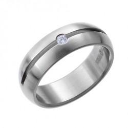 Ocelový prsten Oliver Weber - Sense 68001 (white)