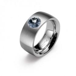 Ocelový prsten Oliver Weber - Phrase Steel 68013 (bl. diamond)