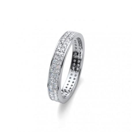 Stříbrný prsten Oliver Weber Value - 63226 (crystal)