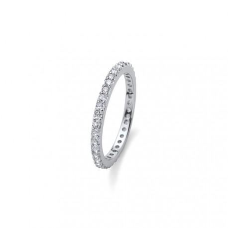 Stříbrný prsten Oliver Weber Jolie - 63225 (crystal)