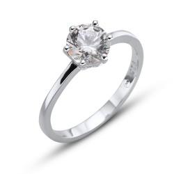 Stříbrný prsten Oliver Weber Brilliance large - 63222 (crystal)
