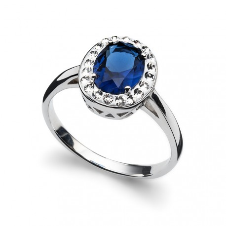 Stříbrný prsten Oliver Weber Pure - 63211 (blue)