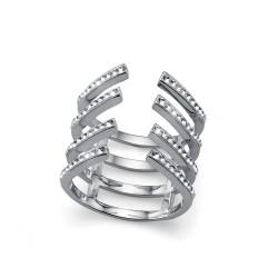 Stříbrný prsten Trace - 63214 (crystal)