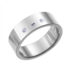 Ocelový prsten Oliver Weber - Fate 68000 (white)