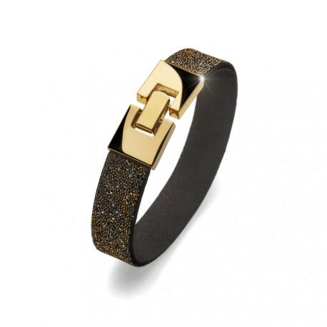 Náramek Oliver Weber Lucky (gold black metallic) vel 17,5cm