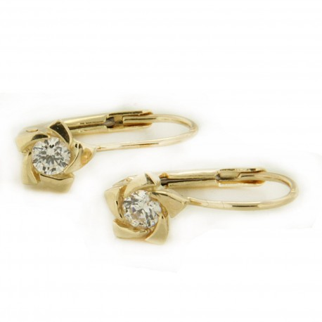 Zlaté náušnice E10500-254
