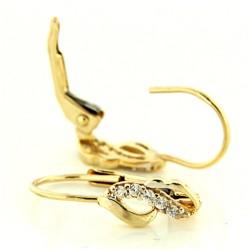 Zlaté náušnice E10500-249