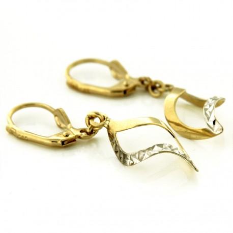 Zlaté náušnice E10156-040-4