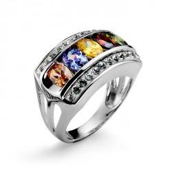 Stříbrný prsten Rainbow - 63017 (multicolor)