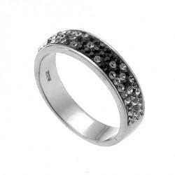 Stříbrný prsten Basic - 63011 (black)