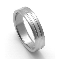 Ocelový snubní prsten RZ06248