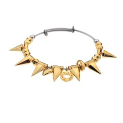 Ocelový náramek Hot Diamonds Emozioni Spike Gold