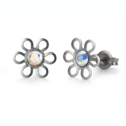 Náušnice Oliver Weber Sensitive PE Daisy - S24006 (crystal AB)
