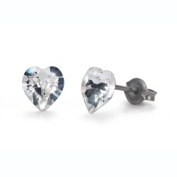 Náušnice Oliver Weber Sensitive PE Heart mini - S24008 (crystal)