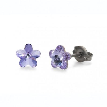 Náušnice Oliver Weber Sensitive PE Viola mini - S24018 (violet)