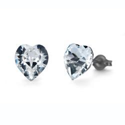 Náušnice Oliver Weber Sensitive PE Heart midi - S24009 (crystal)