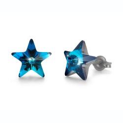 Náušnice Oliver Weber Sensitive PE Star - S24010 (metallic blue)