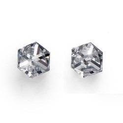 Náušnice Oliver Weber Sensitive PE Cube midi - S24005 (crystal)