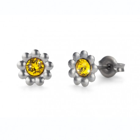 Náušnice Oliver Weber Sensitive PE Primrose - S24007 (sunflower)