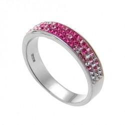 Stříbrný prsten Basic - 63011 (rose)