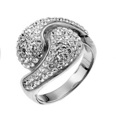 Stříbrný prsten Sensibility - 7708 (crystal) (výprodej)