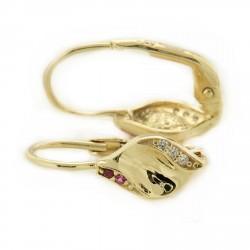 Zlaté náušnice E10500-308-1