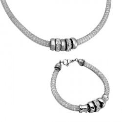 Set Tribal 117 steel náhrdelník a náramek