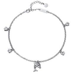 Řetízek na nohu Oliver Weber Dolphin - 39100 (crystal)