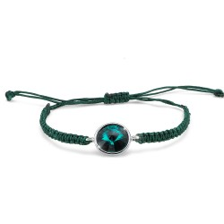 Náramek Oliver Weber Easy round cord - 32207 (emerald)
