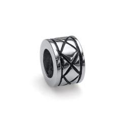 Korálek na náramek Oliver Weber Match Bead Crossing - 55020 (steel crystal)