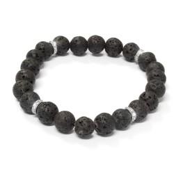 Pánský náramek Oliver Weber Beads - 67022 (ocel láv. kámen L)