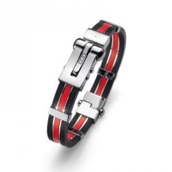 Ocelový náramek Oliver Weber Function - 0521 (steel / red)