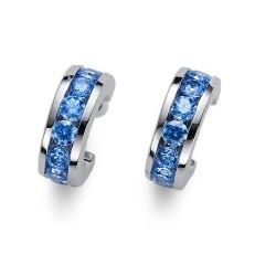 Stříbrné náušnice Oliver Weber Circle - 62074 - Ag925 (blue)