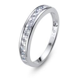 Stříbrný prsten Oliver Weber Foursquare - 63231 (crystal)