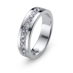 Stříbrný prsten Oliver Weber Everlast - 63228 (crystal)