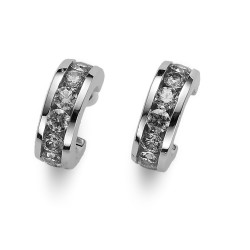 Stříbrné náušnice Oliver Weber Circle - 62074 - Ag925 (crystal)