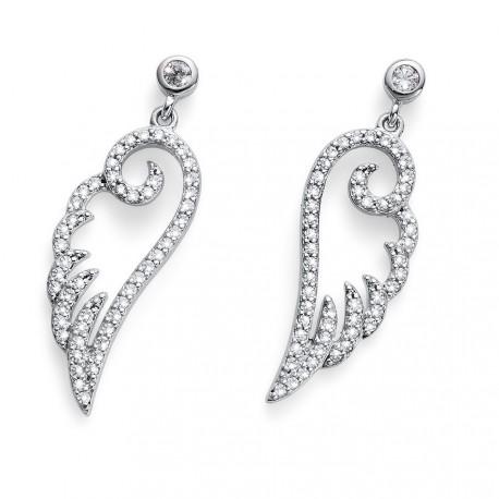 Stříbrné náušnice Oliver Weber Luxwing - 62075 - Ag925 (crystal)