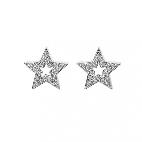 Stříbrné náušnice Hot Diamonds Star Micro Bliss DE554