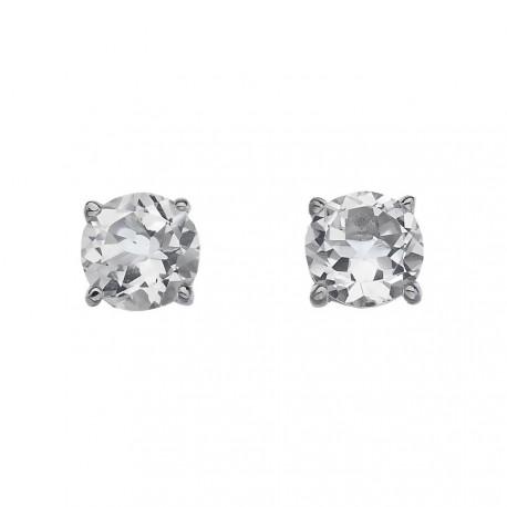 Stříbrné náušnice Hot Diamonds Anais bílý Topaz AE004